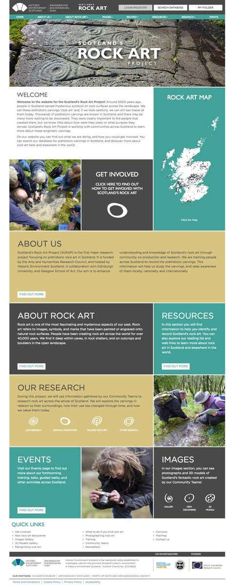 Scotland's Rock Art Project home page